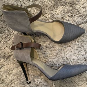 BP Nordstrom heels gray with buckle size 8.5